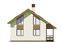 Изображение фасада 4  Проект коттеджа 45-08