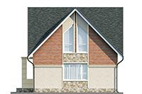 Изображение фасада 1  Проект коттеджа 61-75