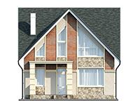 Изображение фасада 2  Проект коттеджа 61-75