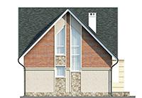 Изображение фасада 3  Проект коттеджа 61-75