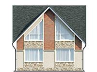 Изображение фасада 4  Проект коттеджа 61-75
