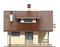 Изображение фасада 1  Проект коттеджа 66-67