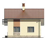 Изображение фасада 3  Проект коттеджа 66-67