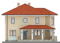 Изображение фасада 1  Проект коттеджа 61-20