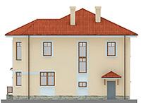 Изображение фасада 3  Проект коттеджа 61-20