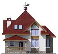 Изображение фасада 1  Проект коттеджа 45-68
