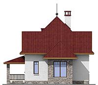 Изображение фасада 3  Проект коттеджа 45-68