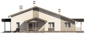 Изображение фасада 1  Проект коттеджа 47-99