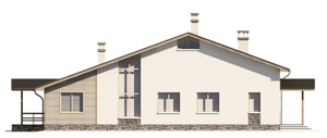 Изображение фасада 3  Проект коттеджа 47-99