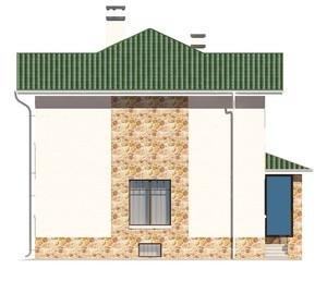 Изображение фасада 1  Проект коттеджа 47-30