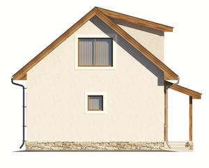 Изображение фасада 1  Проект коттеджа 67-04