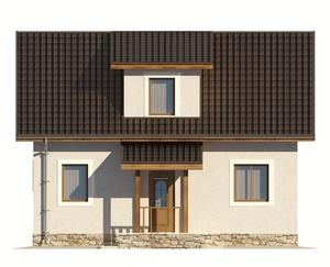 Изображение фасада 2  Проект коттеджа 67-04