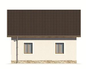Изображение фасада 4  Проект коттеджа 67-04