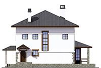Изображение фасада 3  Проект коттеджа 66-17