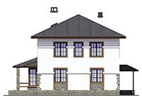 Изображение фасада 4  Проект коттеджа 66-17