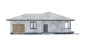 Изображение фасада 3  Проект коттеджа 69-63