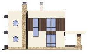Изображение фасада 3  Проект коттеджа 68-64