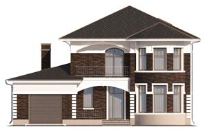 Изображение фасада 2  Проект коттеджа 65-64