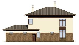 Изображение фасада 3  Проект коттеджа 68-75