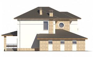 Изображение фасада 1  Проект коттеджа 65-41