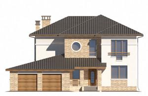 Изображение фасада 2  Проект коттеджа 65-41
