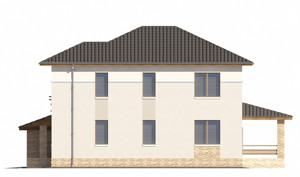 Изображение фасада 3  Проект коттеджа 65-41