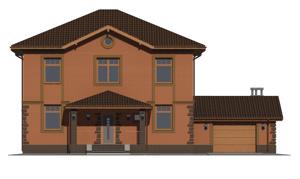 Изображение фасада 1  Проект коттеджа 47-49