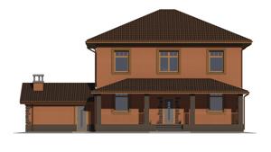 Изображение фасада 3  Проект коттеджа 47-49