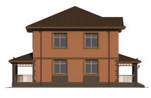 Изображение фасада 4  Проект коттеджа 47-49