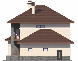 Изображение фасада 3  Проект коттеджа 46-71