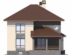 Изображение фасада 4  Проект коттеджа 46-71
