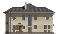 Изображение фасада 4  Проект коттеджа 69-08