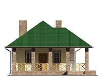 Изображение фасада 2  Проект коттеджа 64-71
