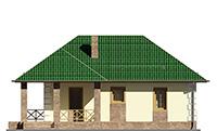 Изображение фасада 3  Проект коттеджа 64-71