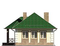 Изображение фасада 4  Проект коттеджа 64-71