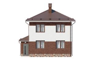 Изображение фасада 1  Проект коттеджа 67-68