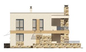 Изображение фасада 1  Проект коттеджа 69-75