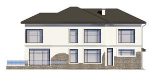 Изображение фасада 4  Проект коттеджа 46-70