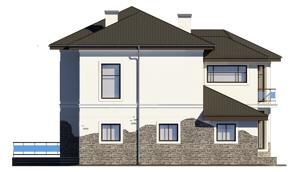 Изображение фасада 1  Проект коттеджа 68-14
