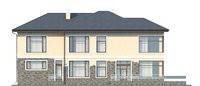 Изображение фасада 3  Проект коттеджа 69-40