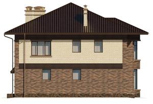 Изображение фасада 4  Проект коттеджа 47-64
