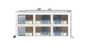 Изображение фасада 1  Проект коттеджа 80-50