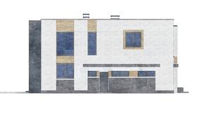 Изображение фасада 2  Проект коттеджа 80-50
