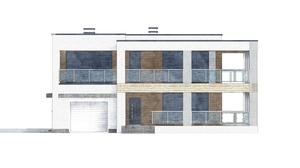 Изображение фасада 3  Проект коттеджа 80-50