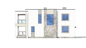 Изображение фасада 4  Проект коттеджа 80-50
