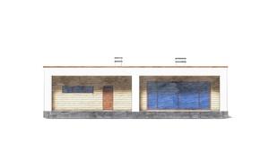 Изображение фасада 3  Проект коттеджа 49-14