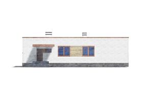 Изображение фасада 4  Проект коттеджа 49-14