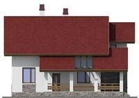 Изображение фасада 4  Проект коттеджа 55-12