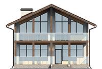 Изображение фасада 1  Проект коттеджа 61-68