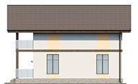Изображение фасада 4  Проект коттеджа 61-68